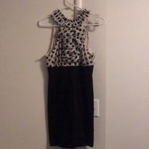 Never been worn black & white polka dot dress